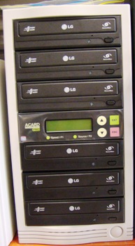 DVD Duplicator 1:5 (SATA model) with Blu-Ray compatible controller card