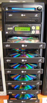 DVD Duplicator 1:7 (SATA model) with Blu-Ray compatible controller card
