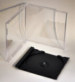 10.2mm Unassembled Single Jewel CD Case ( Black tray) 100pk