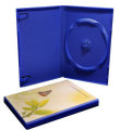 Single DVD case blue (14mm)