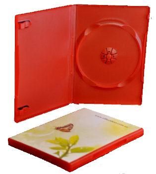 single dvd case red 14mm office supplies dvd storage media