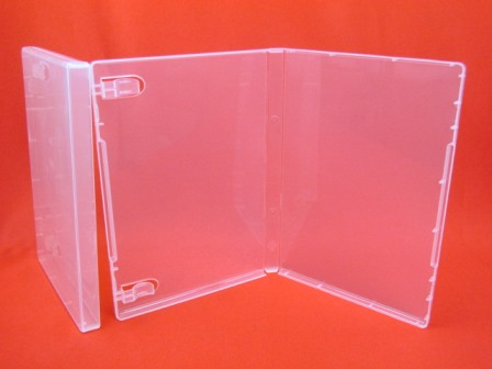 14mm Storage PP case Super Clear without Hub with Booklet