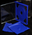 24mm Double Jewel CD Case Blue (Unassembled)