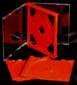 24mm Double Jewel CD Case Red (Unassembled)