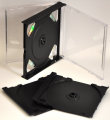 24mm Quadruple CD case Black (Unassembled)