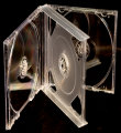 24mm Quadruple CD Case Clear (Assembled)