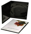 Single Ultra Slim DVD case Glossy Black (5mm)