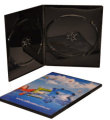 Double Ultra Slim DVD case Glossy Black (7mm)