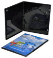 Single Ultra Slim  DVD case Glossy Black (7mm)