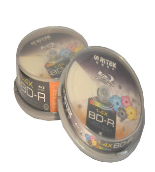Ritek Blu-ray Disc full size white inkjet printable 25GB 4x
