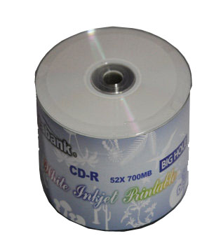 Databank CD-R Silver dye white inkjet printable (Big hole) 50pk