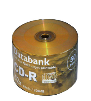 Databank CD-R Silver dye full size Golden printable 50pk