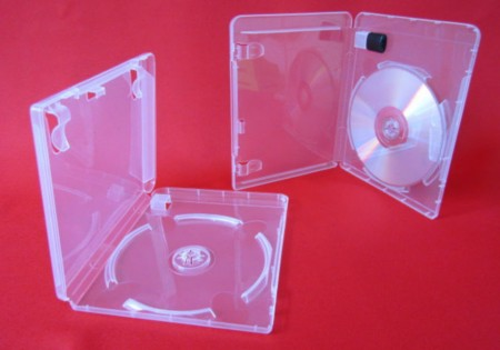 Single DVD case with USB holder