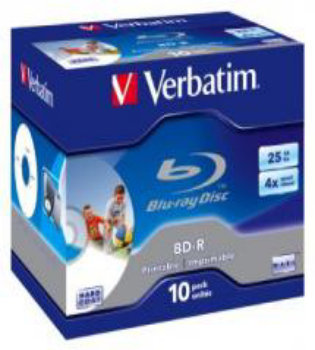 Verbatim Blu-ray Disc 25GB White wide inkjet in Jewel case (P/N: 43713)