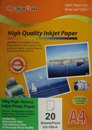 180g Inkjet High Glossy Paper 20pk (GS-180-A)