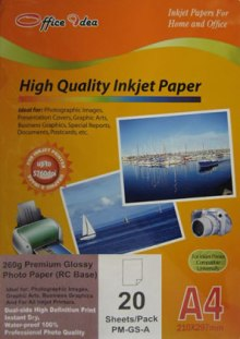 260g Resin Coated Glossy Paper 20pk (PM-GS-A)